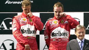 Michael Schumacher och Rubens Barrichello.