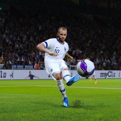 Teemu Pukki eFootball PES 2020 -pelissä.