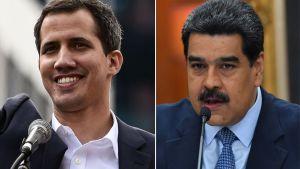 Juan Guaido och Nicolás Maduro