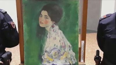 """""""Porträtt av en kvinna"""" målad av den österrikiska konstnären Gustav Klimt 1916-1917"""