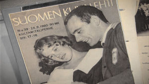 Pärmen på Suomen Kuvalehti från Eugen Ekmans album med foton och tidningsurklipp.