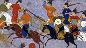 Strid mellan mongoler och kineser av Rashid-al-Din