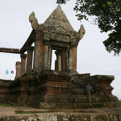 Preah Vihear vid gränsen mellan Thailand och Kambodja