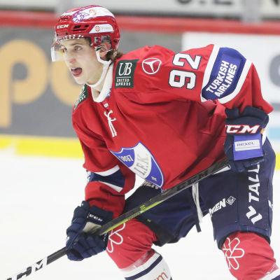 Säsongen 2019–20 fick Brad Lambert ligadebutera i HIFK:s tröja.