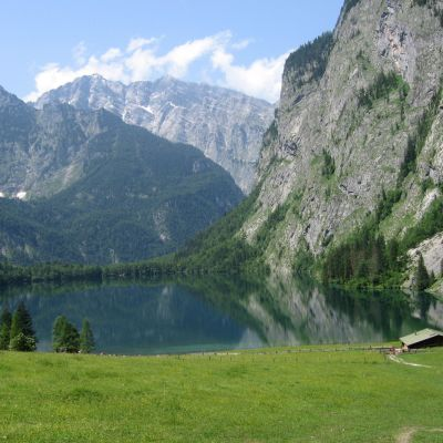 Alplandskap i Bayern.