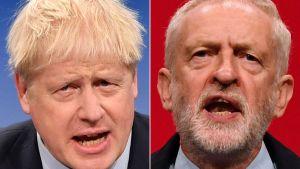 Boris Johnson och Jeremy Corbyn