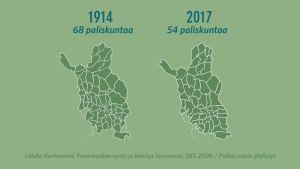Paliskuntakartta vuonna 1914 ja 2017