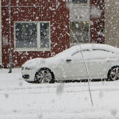 Snöfall i Lappland 14.9.2021