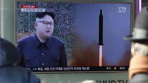 Nordkoreas ledare Kim Jong-Un utförde ett missiltest bara två dagar efter att Trump hade varnat Nordkorea för provokationer