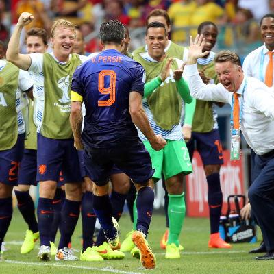 Holland krossade Spanien.