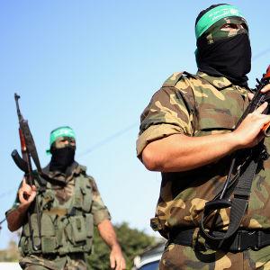 al-Qassam-soldater fotograferade i september 2013.