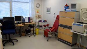 Ett mottagningsrum i en hälsocentral.