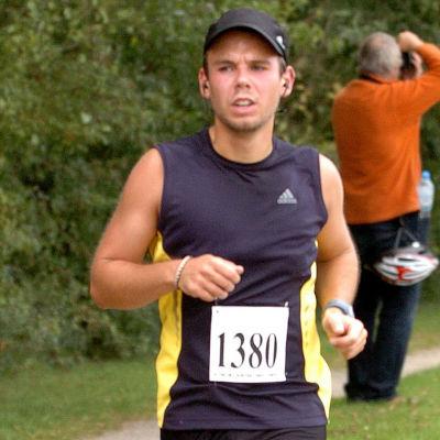 Andreas Lubitz under en löptävling i Hamburg 2009.