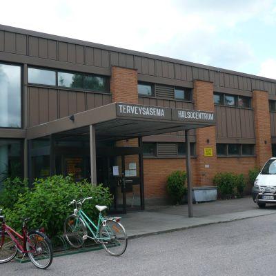 Gammal bild på Nickby hälsovårdscentral.