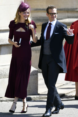 Skådespelaren Gabriel Macht från tv-serien Suits med sin hustru Jacinda Barrett