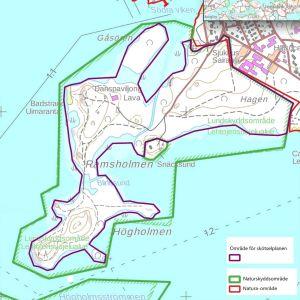 karta över Ramsholmen