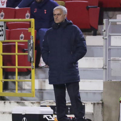 Tottenhams tränare José Mourinho under matchen mot Royal Antwerp.