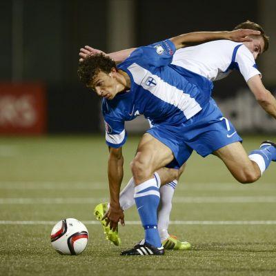 Roman Eremenko gjorde 3-1 i Torshavn.