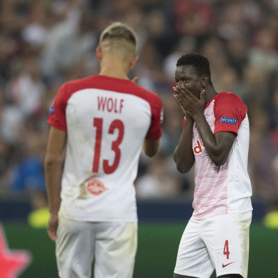 Salzburgspelarna Hannes Wolf och Amadou Haidara.