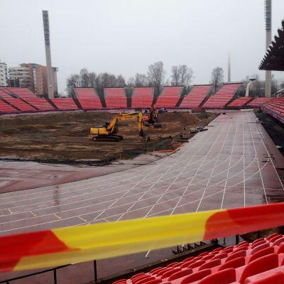 Ratinan stadion remontissa