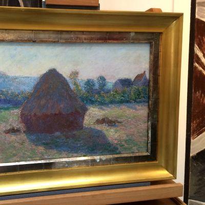 Claude Monet'n teos  Heinäsuova ilta-auringossa.