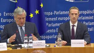 Mark Zuckerberg grillades av Europaparlamentet.