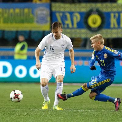 Markus Halsti i kvalmatchen mot Ukraina