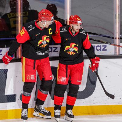 Marko Anttila och Peter Regin jublar.