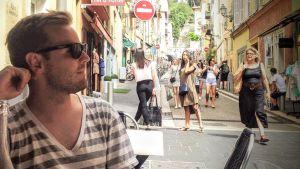 Martin Sommerschield i Nice samma dag som dådet ägde rum.