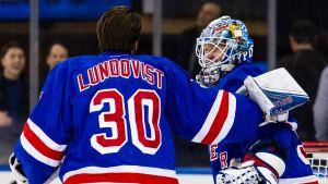 Henrik Lundqvist och Antti Raanta bildade New York Rangers målvaktspar i två säsonger: 2015–16 och 2016–17.