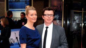 Rick Astley med fru Lene Bausager