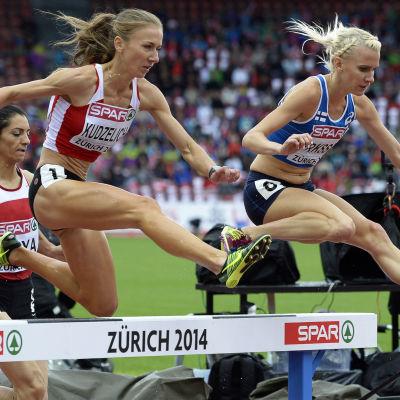 Sandra Eriksson på EM 2014.
