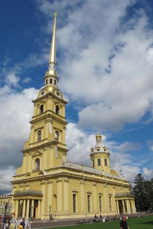 Peter-Paulkatedralen i Sankt Petersburg.