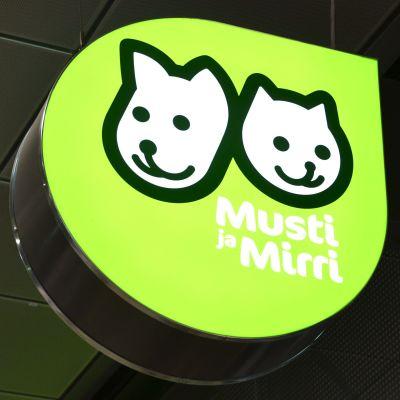 Husdjursaffären Musti ja Mirris logo.