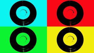 single-levyjä, käsitelty kuva