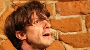 """Matteus Blad under sin föreställning """"Carl Michael Bellman 280"""" år."""
