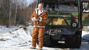 Vladimir Putin i Sibirien den 21 mars 2021.