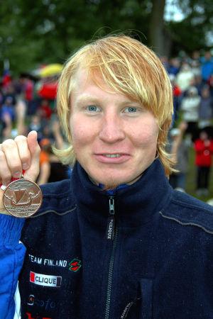 Mårten Boström med sitt EM-brons 2004.