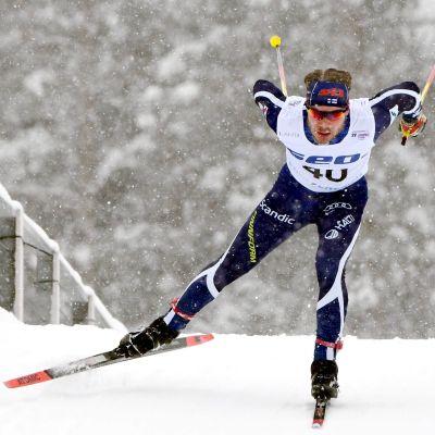 Aleksi Parttimaa skidar i U23 VM i lahtis