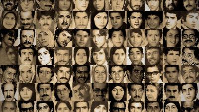 Bilder på offer för massavrättningarna i Iran