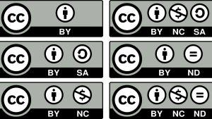 Bilder på olika CC-licenser.