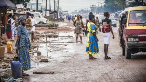 Gata i Benin City i Nigeria.