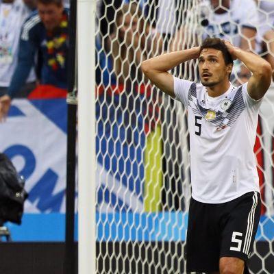 Meksiko tyrmäsi Mats Hummelsin ja Saksan.