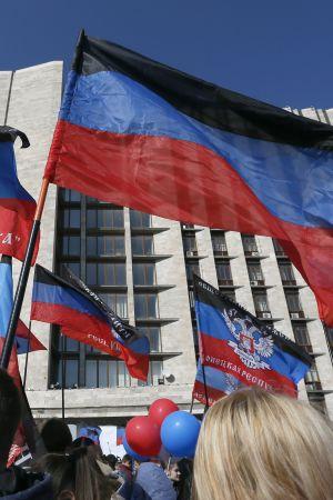 Invånare i Donetsk firar femårsdagen av utlysandet av utbrytarrepubliken