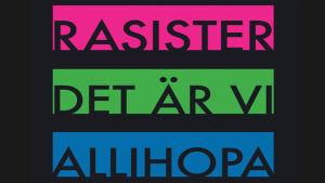 Omslag till Dan Korns bok Rasister är vi allihopa
