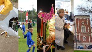 Ett collage av bilder från ett flertal olika artiklar.