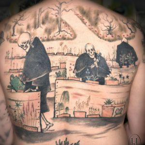 Hugo Simbergs Dödens trädgård som tatuering