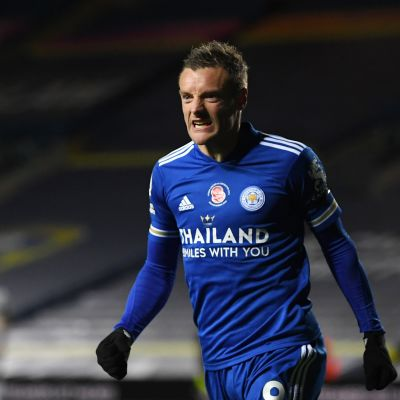 Jamie Vardy on Leicesterin kultakimpale