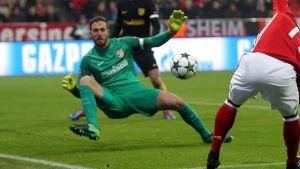 Jan Oblak vaktar målet för Atletico Madrid.