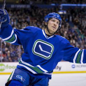 Markus Granlund, Vancouver Canucks, januari 2017.
